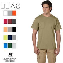 Jerzees Men's 5.6 oz. 50/50 Heavyweight Blend Pocket T-Shirt