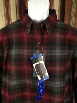 Men's Authentic NWT Pendleton Mason Flannel Oxford Collar La