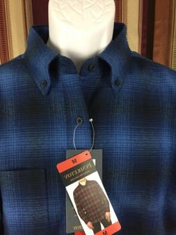 Men's Authentic NWT Pendleton Mason Flannel Oxford Collar Me
