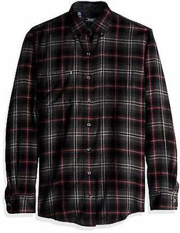 IZOD Men's Big and Tall Flannel Long Sleeve Shirt - Choose S
