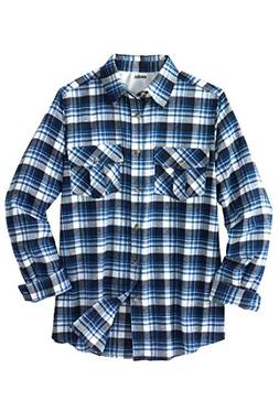 KingSize Men's Big & Tall Long-Sleeve Plaid Flannel Shirt, N