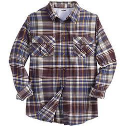 KingSize Men's Big & Tall Long-Sleeve Plaid Flannel Shirt, R