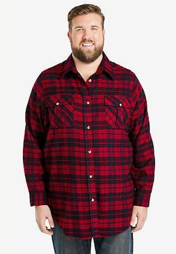 men s big and tall plaid flannel
