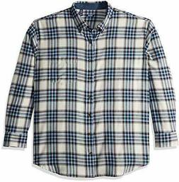 IZOD Men's Big and Tall Stratton Long Sleeve Button Down Pla