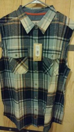 men s big country sleeveless flannel shirt