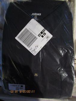 KING SIZE Men's BLACK Flannel Button Front Casual Shirt Size