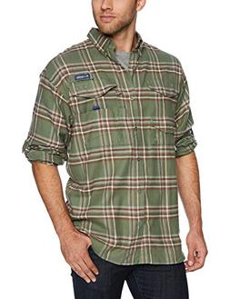 Columbia Men's Bonehead Flannel Long Sleeve Shirt, Cypress L