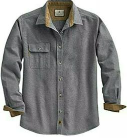 Legendary Whitetails Men's Buck Camp Flannel Gray Shirt Size