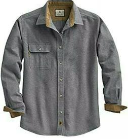 Legendary Whitetails Men's Buck Camp Flannel Gray Shirt Size