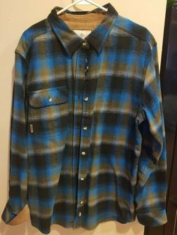 Legendary Whitetails Men's Buck Camp Flannel Plaid- Cobalt P