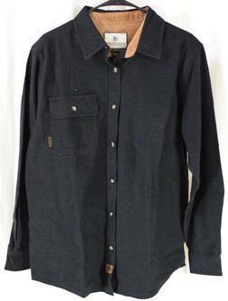 Legendary Whitetails Men's Buck Camp Flannel Shirt Black Hea