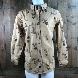 Legendary Whitetails Men's Buck Camp Flannel Shirt Button Up