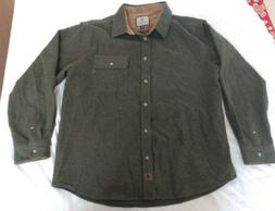 Legendary Whitetails Men's Buck Camp Flannel Shirt Heathered