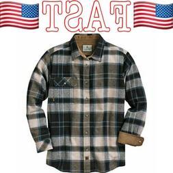 Legendary Whitetails Men's Buck Camp Flannel Shirt, Slate Sh