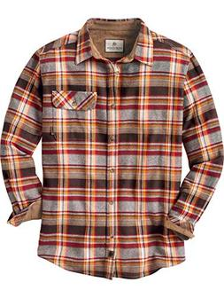 Legendary Whitetails Men's Buck Camp Flannels Cardinal Choco