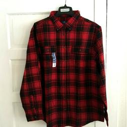 George Men's Buffalo Plaid Flannel Shirt Plus Size 2XL Tall
