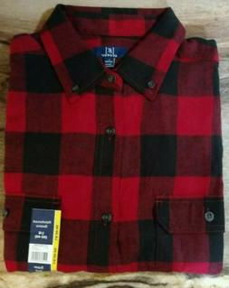 Men's GEORGE Buffalo Plaid Red/Black Flannel Shirts~Small, L