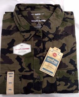 URBAN PIPELINE Men's Camouflage Flannel Shirts, 100% Cotton,