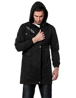 men s casual parka jacket cotton windbreaker