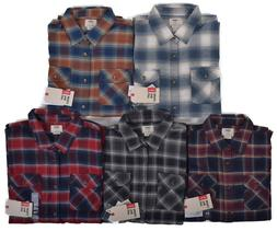 Vans Men's Casual Plaid Banfield Flannel Button Up Shirt Cho