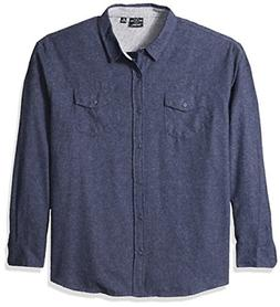 Burnside Men's Cater 2 Solid Flannel Button Down Long Sleeve
