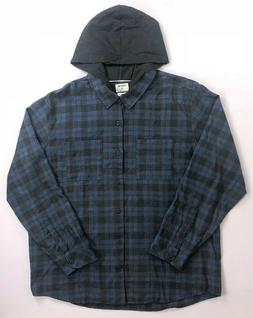 Men's Hurley Classic Fit Hooded Flannel Washed Look Long Sle