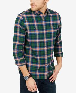 Nautica Men's Classic Fit Plaid Flannel Shirt, Size M, MSRP