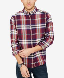 Nautica Men's Classic Fit Plaid Flannel Shirt, Size L, MSRP