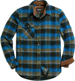 men s cotton flannel shirt long sleeve
