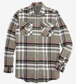 KingSize Men's Cotton Flannel Shirt Size 4XL 5XL Long Sleeve