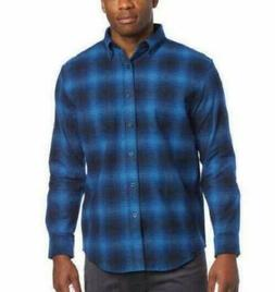 Pendleton Men's Cotton Mason Flannel Shirt Button-up Blue Om