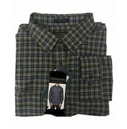 Pendleton Men's Cotton / Wool Flannel Landry Navy/Grey Check