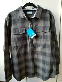 COLUMBIA Men's Double Peak Long Sleeve Flannel Shirt Medium