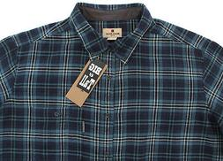 Men's WOOLRICH Flannel Blue Plaid Shirt 2XL 2X 2XB NWT NEW