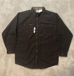 Carhartt Men's Flannel Lined Canvas Work Shirt Jacket Tall X
