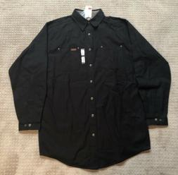 Carhartt Men's Flannel Lined Canvas Work Shirt Jacket Tall L
