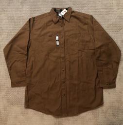 Carhartt Men's Flannel Lined Canvas Work Shirt Jacket Tall X