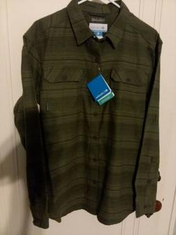 men s flannel long sleeve fishing shirt
