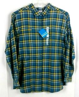 Columbia Men's Flannel Plaid Front Button Long Sleeve Shirt
