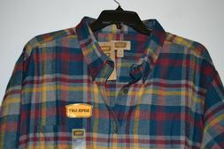 MEN'S FOUNDRY FLANNEL PLAID SHIRT BIG AND TALL SIZE: 3XLT CO