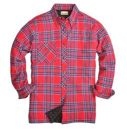 Backpacker Men's Flannel/Quilt Lined Shirt Jacket with Snap