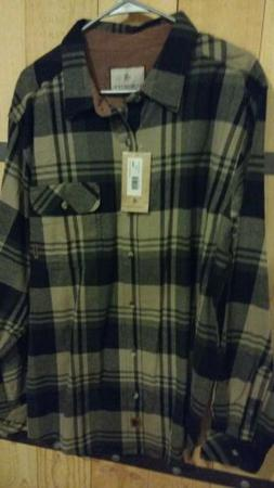 men s flannel shirt size l nwt