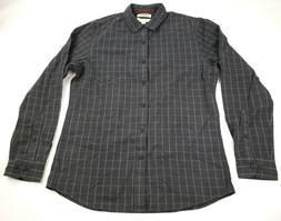 Goodthreads Men's Flannel Shirt Slim-Fit Long-Sleeve, Gray,