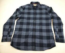 Goodthreads Men's Flannel Shirt Slim-Fit Long-Sleeve, Blue,