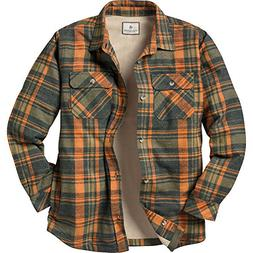 Legendary Whitetails Men's Fleece Lined Button Down Java Shi