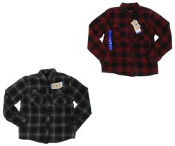 Boston Traders Men's Fleece Lined Flannel Shirt - Plaid - Si
