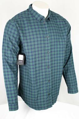 RVCA Men's Hayes Flannel Button Slim Fit Shirt Size XL Feder