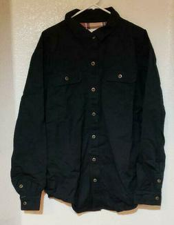 Mocotono Men's Heavyweight Canvas Flannel Lined Shirt Jacket