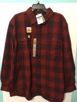 Carhartt Men's Hubbard Long Sleeve Plaid Flannel Shirt 10382
