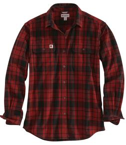 Carhartt Men's Hubbard Long Sleeve Plaid Flannel Work Shirt